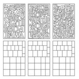 Tim Holtz Idea-Ology Grungblocks 115 letters