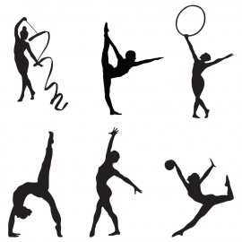 Wee Gymnasts unmounted clear stamp set
