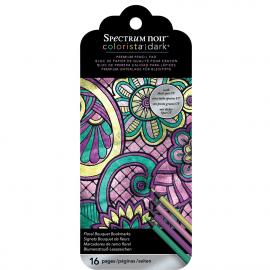 Colorista Darks bladwijzer potloden kleurpad - Floral Bouquet
