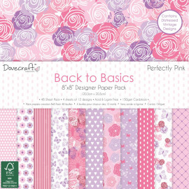 Back to Basics Perfectly Pink 8x8 Inch Paper Pack