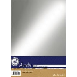 Aurelie Chromolux Cardstock Silver