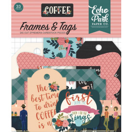 Echo Park Coffee Frames & Tags 33 pc