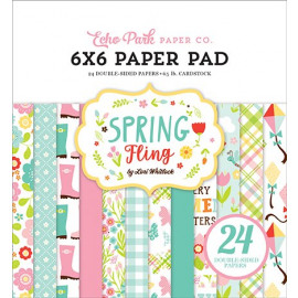 Echo Park Spring Fling 6x6 Inch Paper Pad