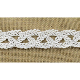 (1 METRE) LENGTH WHITE GUIPURE LACE 30mm (1¼