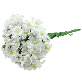 12 WHITE BEAD BERRY SPRAY CLUSTERS WITH FLOWERS