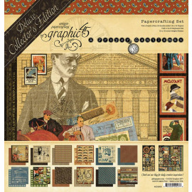 Graphic 45 A Proper Gentleman 12x12 Inch Deluxe Collector's Edition