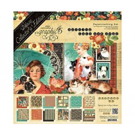 Raining Cats And Dogs Collection 12x12 + chipboard and stickers