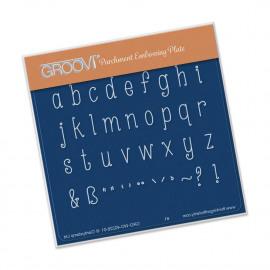 Groovi Plate Groovi Babies Lowercase Letters