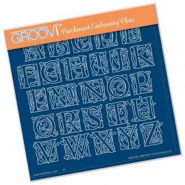 Groovi Illuminated Celtic Alphabet A5 Square Plate