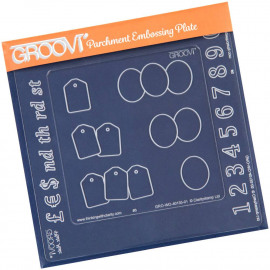 Groovi Plate Inset numbers A5 Sq