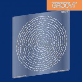 Groovi Plate Circle Deckle A5 Sq