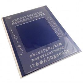 Groovi plate Mate A5 Sq Alphabet