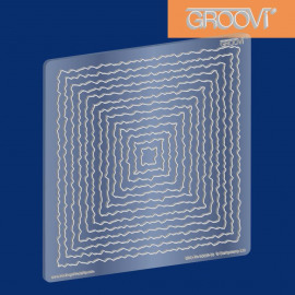 Groovi Plate Square Deckle A5 Sq