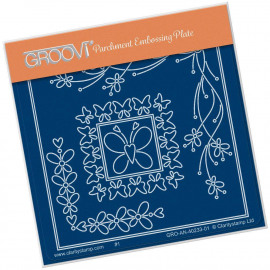 Groovi Tina's Butterfly Corners Petite A6 Square Plate