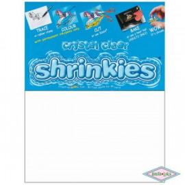 SHRINKLES 6 WHITE SHEETS 262 X 202 MM