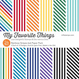 Rainbow Stripes Paper Pack