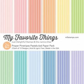 Proper Pinstripes Pastels Paper Pack 6X6