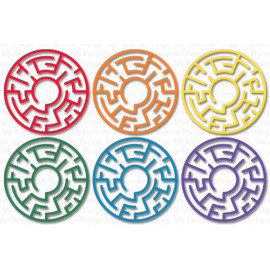 My Favorite Things Maze Shapes - Rainbow