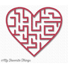 My Favorite Things Wild Cherry Heart Maze Shapes