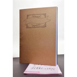 Papicolor Handlettering Oefenblok A4 Wit Recyling Bruin & Zwart