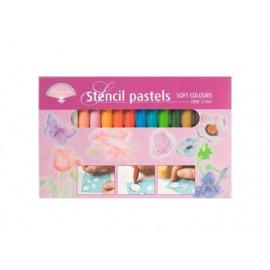 Stencil pastels Soft Colours