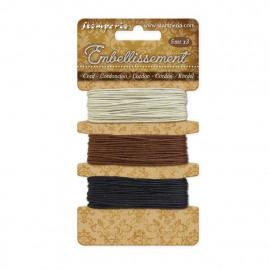 Stamperia Cord Ivory - Brown - Black 3x5m