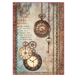 Rice Paper A4 Clockwise Clock & Keys