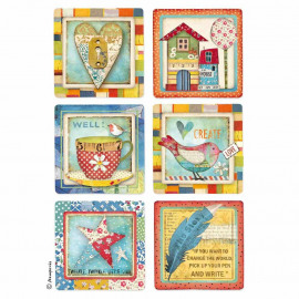Rice Paper A4 Patchwork Cards
