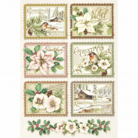 Rice Paper A4 Winter Botanic Stamps