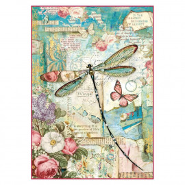 Rice Paper A4 Wonderland Dragonfly