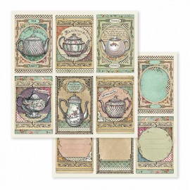 Stamperia Tea Time 12x12 Inch Paper Sheet