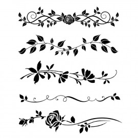 Stamperia Thick Stencil Bordure Rose