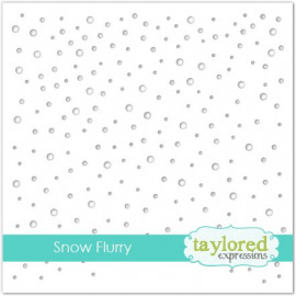 Taylored Expressions Snow Flurry 6x6 Inch Stencil