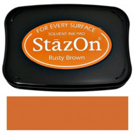 StazOn Rusty Brown Solvent Ink Pad