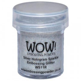 WOW Embossing glitter - Silver hologram sparkle