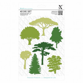 Xcut A5 Die Set (7pcs) - Woodland Trees