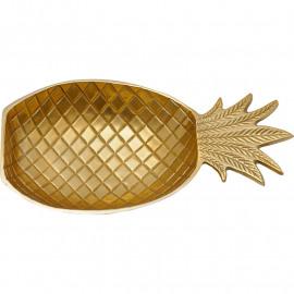 Ananas schaal - brass