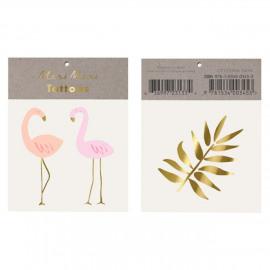 Tijdelijke tattoos flamingo