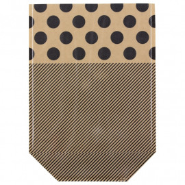 Set zakjes - black/stripe/dot - large