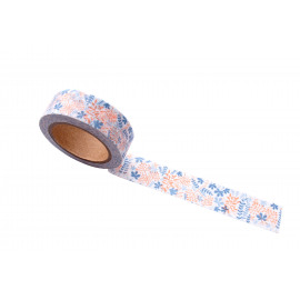 Washi tape - Blooming garden blue