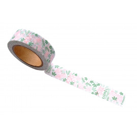 Washi tape - Blooming garden green