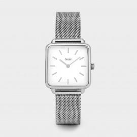 Cluse La Tétragone Silver mesh/white