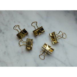 Binder clip goud - 25 mm