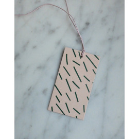 Gift tag stripes