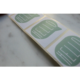 Set stickers - hello