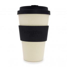 Ecoffee Cup Black Nature - koffiebeker - 400ml