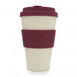 Ecoffee Cup Maroon Nature - koffiebeker - 400 ml