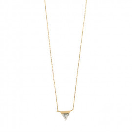 Halsketting Timi Triangle marble/gold