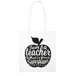Totebag I am a teacher / witzwart