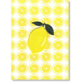 Postkaart met strijkapplicatie - lemon